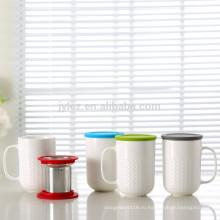 400 куб. чай infuser кружка с силиконовой крышкой