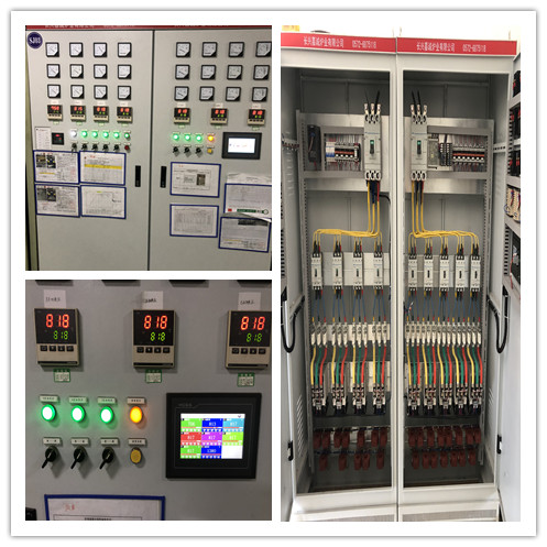Mesh belt quench furnace control cabinet