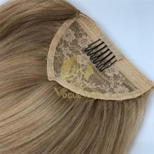 Clip in ponytail hair extensions-remy cuticle hair