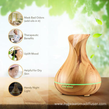 Home Office Wood Finishing Sound Aroma Diffuser 400ml