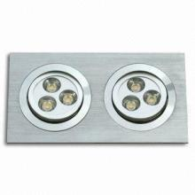 6W LED retangular Recessed Lights-6X1W