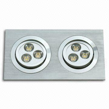 6W Rectangular LED Recessed Lights-6X1W