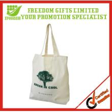Saco de compras de algodão orgânico promocional de alta qualidade