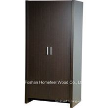 Sturdy & Durable Wooden Bedroom 2 Door Wardrobe Closet (WB78)