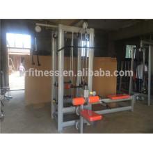 Appareil de fitness à usage professionnel / Gym intégré 4 stations Trainer / Mulit Jungle (4 piles)