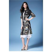 Новый китайский стиль Cheongsam для дамы Bodycon Sexy Мини партия высокой шеи платье