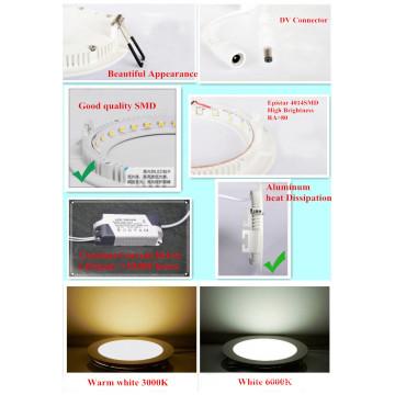 LED Light 18W LED Panel de luz LED