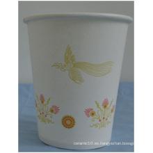 Taza de papel desechable / taza de papel de 9 onzas