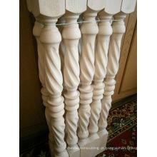 Poste de escada de madeira superior