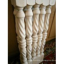 Верхняя деревянная лестничная клетка