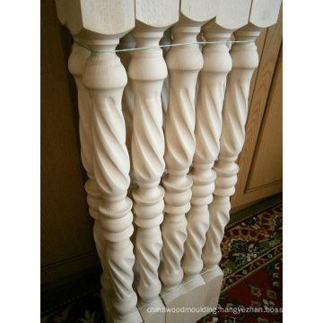 Top wood stair post