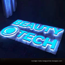 Acrylic channel luminous letters backlit led letter wall mounted 3d logo sign