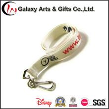 Logotipo personalizado impreso Nylon cuerda con gancho