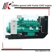 5 MW Kraftwerk mit Synchro 1250kva 1200kw Dieselaggregat mit Yuchai Motor