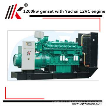 5 MW power station with synchro 1250kva 1200kw diesel generator set with Yuchai engine