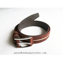 New Design Fashion High Quality Genuine Unisex Suede Leather Belt