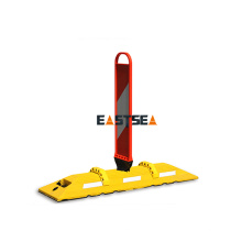 Ali baba Sell Yellow Recycled Rubber Road Safety Lane Separator