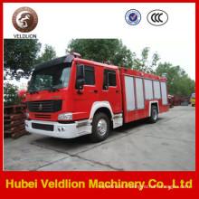 Camion de pompier de marque HOWO avec réservoir d'eau de 8 m3