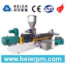 Extrusor de doble husillo de compuesto y granulación de plástico