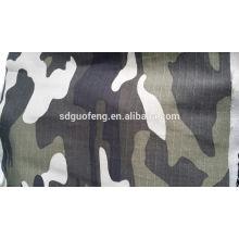 T / C 65/35 240gsm 5mmx5mm tecido ripstop, tecido de camuflagem azul