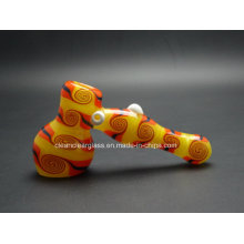 Wholesale 14cm Hammer Shape Glass Heady Bubbler Glass Pipe Hand Pipe