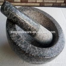 Mortier en pierre de granit de vente chaude et pilon