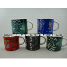 Half Ceramic Mug, 8oz Ceramic Coffee Mug