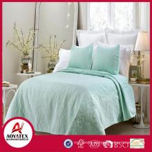 2018 nuevo diseño directo de la venta de la fábrica que sienta el set del edredón de la cama de casa del color sólido de China