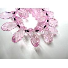 Perles de verre en larmes de mode