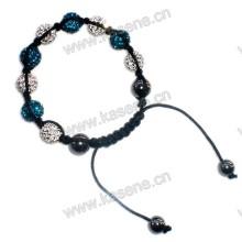 Браслет ручной работы с завязками, браслет Shamballa моды