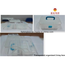Прозрачный 2-лоток организованной пластиковая коробка