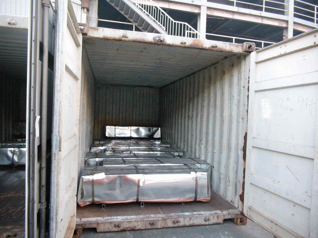 corrugated steel roofing sheet packing