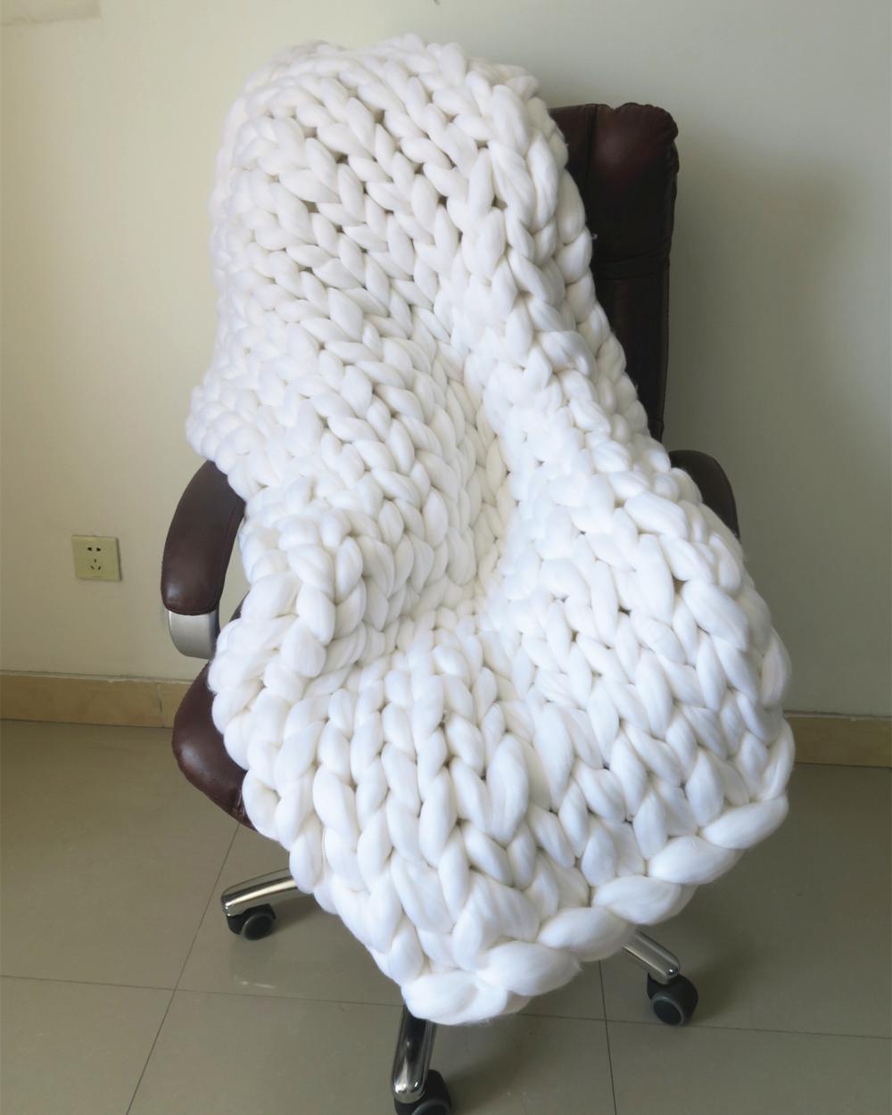 Hand Knitting Merino Wool Blanket : China chunky merino wool queen blanket pudgy hand