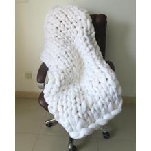 Chunky merino wool queen blanket Pudgy Chunky Hand Knit