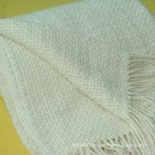 Soft 50% Wool 50% Acrylic Sofa Throw Blanket