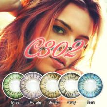 Tri Color Kontaktlinsen, Kontaktlinsen großen Augen, Großhandel Crazy Kontaktlinsen