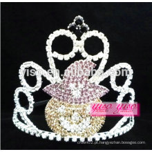Simples tiara de diamante colorido