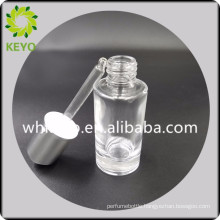 30 ml empty transparent glass dropper cosmetic bottle glass bottle for sale