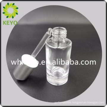 30 ml empty transparent glass dropper cosmetic bottle glass bottle for sale