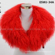 Long Pile Natural Mongolian Fur Scarf Eswj-34A