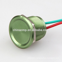 Custom-made 200pcs 19MM Red/Blue/Green/Gold/Black Purple Metal Anti vandal Push button Piezo electric Switch Waterproof IP68