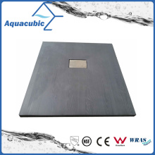 Sanitary Ware 1200*700 High Quality Wood Surface SMC Shower Base (ASMC1270W)