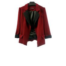 Blazer vintage vermelho patchwork feminino