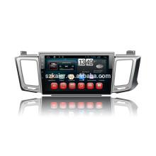 Kaier usine + Quad-core-écran tactile complet android 4.4.2 voiture dvd pour Toyota nouveau Rav4 + OEM + Mirrior lien + TPMS + OBD2