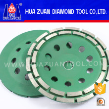 Hot Pressed Double Row Diamond Cup Grinding Wheel
