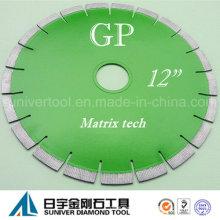 """GP 12 """"* 15 mm lâmina de boa qualidade e Design moderno disco diamantado para granito"""