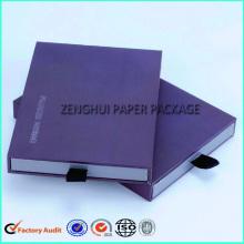 Custom Rigid Sliding Drawer Box With Ribbon Handle