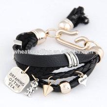 Оптовый дешевый кожаный браслет обруча