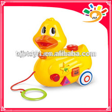 Cute Cartoon Duck Pull Line Cartoon Toys,Pull Line Animal Duck With Music