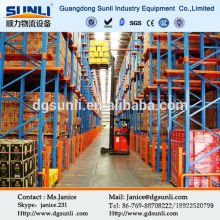 Storing large quantity of goods use drive in rack